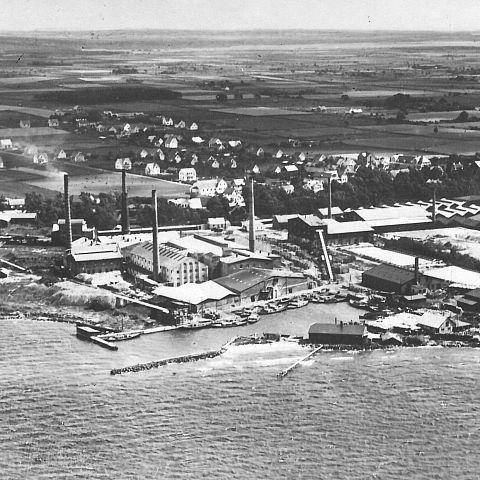 Flygfoto Ifö fabriken 1910